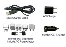 Personal charged with AC, USB, or Car