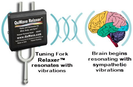 QuWave Relaxer acts like a tuning fork to stimulate your brain into a relaxed Alpha State